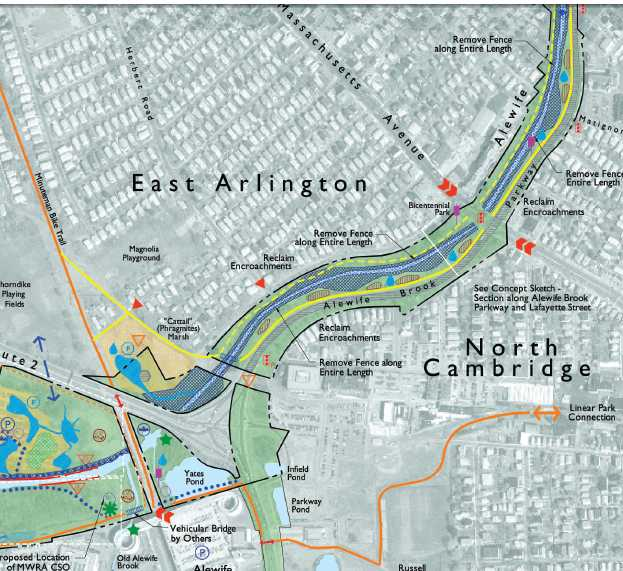 Alewife Subway Map.Friends Of The Path Alewife Chapter